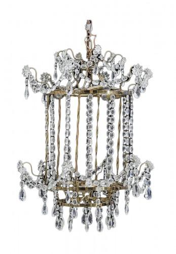 Crystal lantern Gustavian style