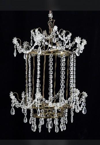 Crystal lantern Gustavian style  - Lighting Style Napoléon III