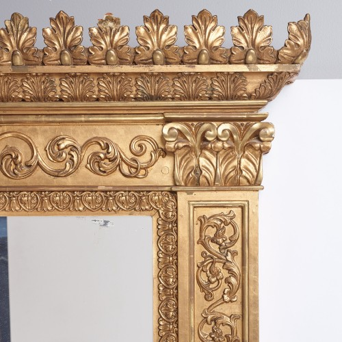Monumental Swedish Mirror - Mirrors, Trumeau Style Empire