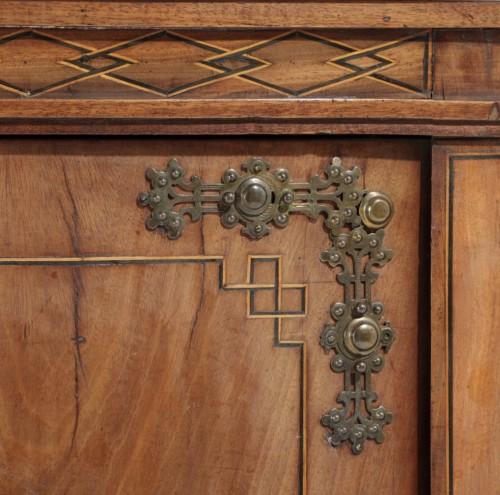 Furniture  - Pair of Pedestal Cabinets Neo classics Danemark, 1850