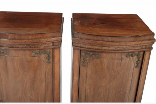 Pair of Pedestal Cabinets Neo classics Danemark, 1850 -