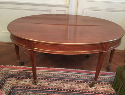 Directoire table in walnut - Furniture Style Directoire