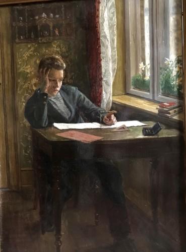 «Goemetry» Schoolboy's boredom  - Axel Helsted, 1893