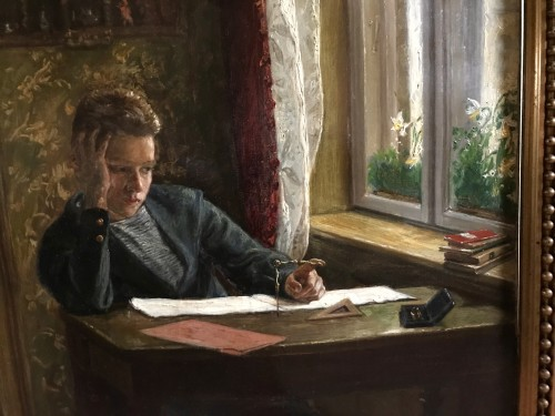 19th century - «Goemetry» Schoolboy's boredom  - Axel Helsted, 1893