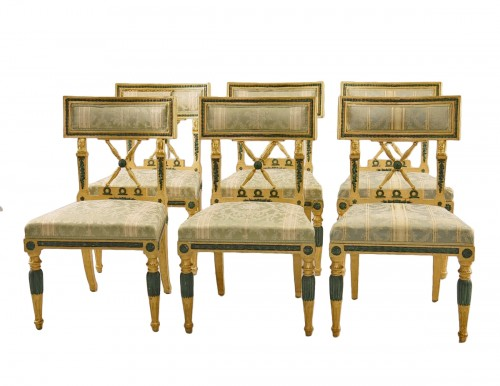 Set of 4 Gustavian style Chairs dated 1907
