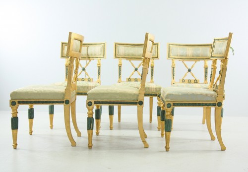 Set of 4 Gustavian style Chairs dated 1907 -