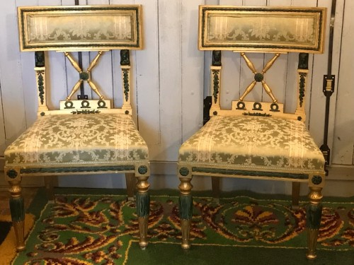 20th century - Set of 4 Gustavian style Chairs dated 1907
