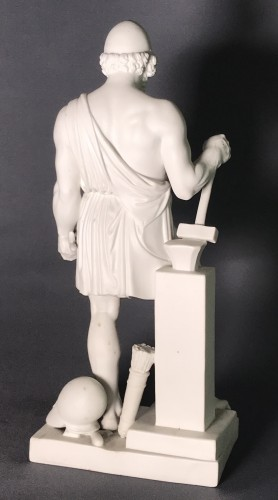"Porcelain & Faience  - ""Vulcan "" Biscuit after the marble statue of B. Thorvaldsen"
