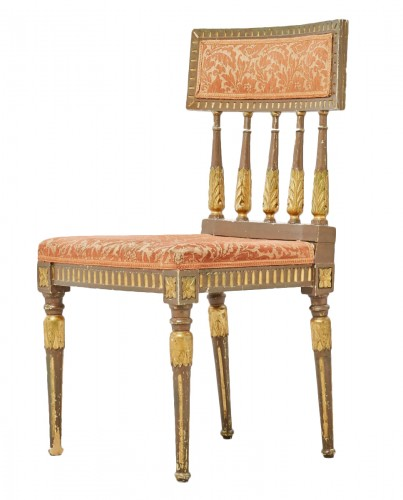 Set of 4 Chairs in Gustaviansk style Bronze and gilt color circa 1900