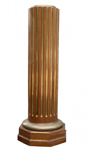 Russian Column Mahogany and brass stries 19th cent.