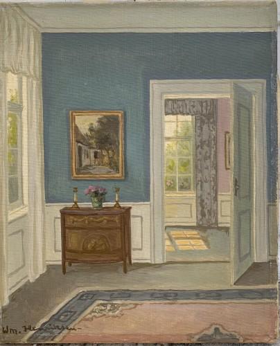 A Danish Interior's study  sign. W. Henriksen
