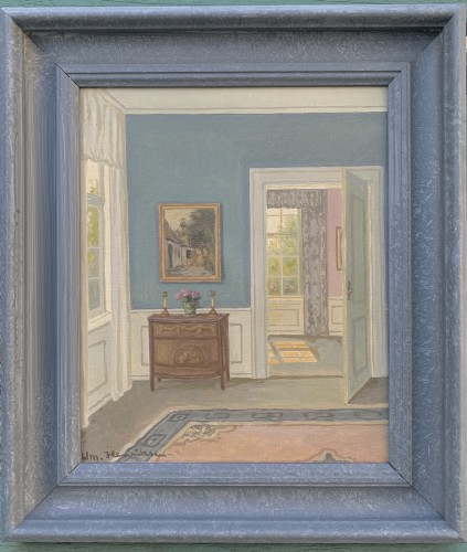 A Danish Interior's study  sign. W. Henriksen  - Paintings & Drawings Style Art Déco