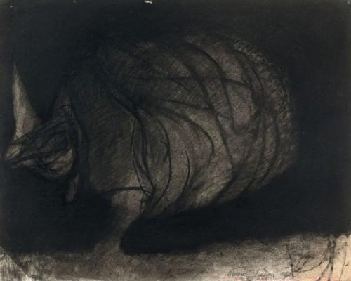 Rhinoceros - Sam Szafran (1934-2019)