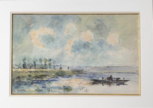 Albert LEBOURG (1849-1928) - Lakeside landscape