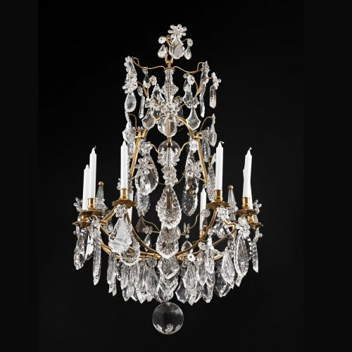 French Louis XV rock crystal chandelier - Alexis Delaroue