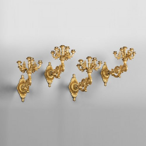 Set of four wall lights, Italy circa 1830