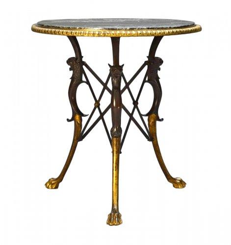 Louis Constant Sevin and Maison Bardedienne. Bronze Pedestal Table