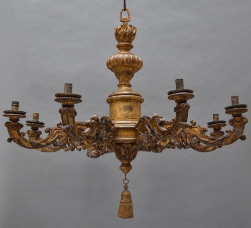 Louis XIV giltwood Chandelier - Lighting Style Louis XIV