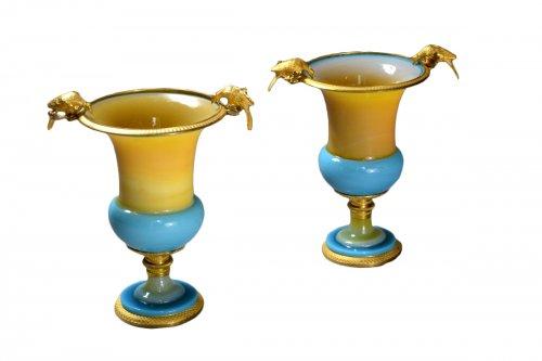 Pair of Vases in Opaline circa 1820