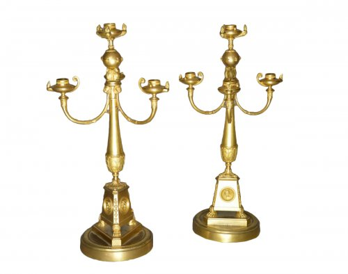 Pair of candelabra attributed to Claude Galle