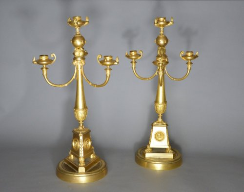 Pair of candelabra attributed to Claude Galle - Lighting Style Empire