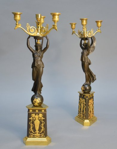 Pair of Empire candelabra - Lighting Style Empire