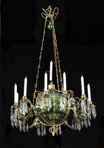 Lighting  - Crystal and ormolu chandelier