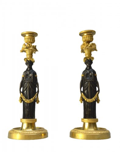 Pair of Louis XVI candlestics