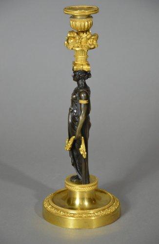 Pair of Louis XVI candlestics -