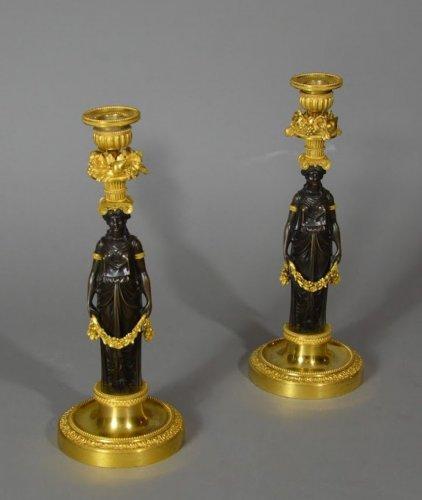18th century - Pair of Louis XVI candlestics