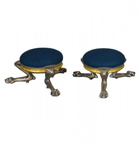 Attributed to Maison Barbedienne - Set of three foot stool