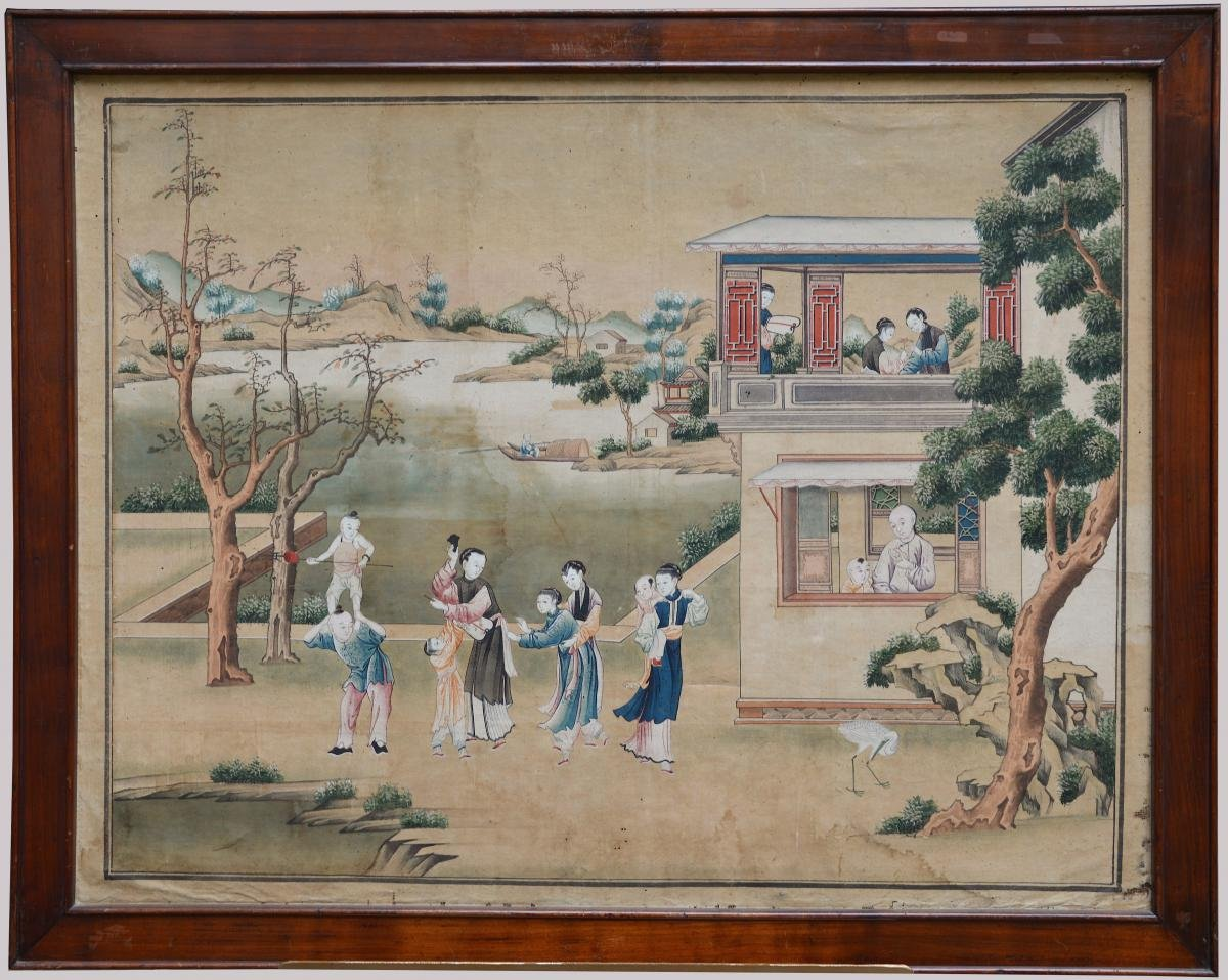 Seven Chinese Watercolors Late 18th Early 19th Century Ref 62471