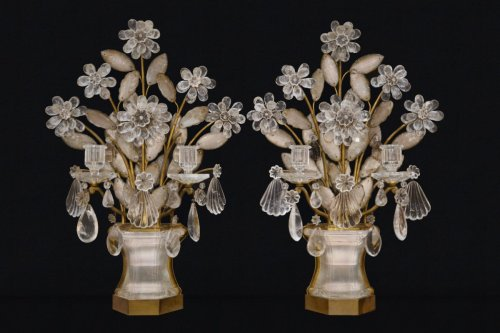 Maison Baguès. Rock crystal pair of girandoles - Lighting Style 50