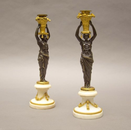 Pair of Louis XVI Candlesticks - Lighting Style