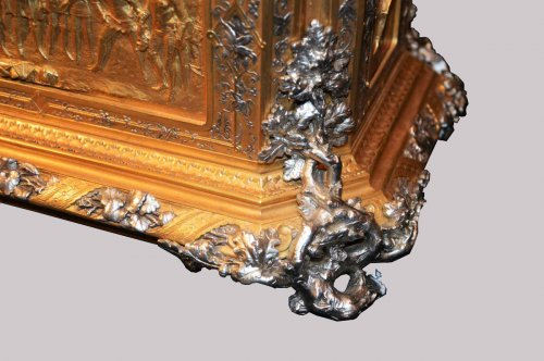 Decorative Objects  - Gilted Bronze And Silver Box