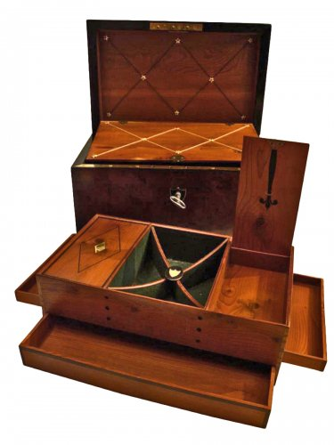Mahogany Letters and Games Case circa 1800