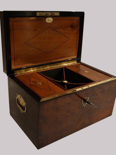 Furniture  - Mahogany Letters and Games Case circa 1800