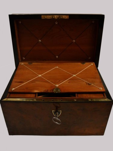 Mahogany Letters and Games Case circa 1800 -