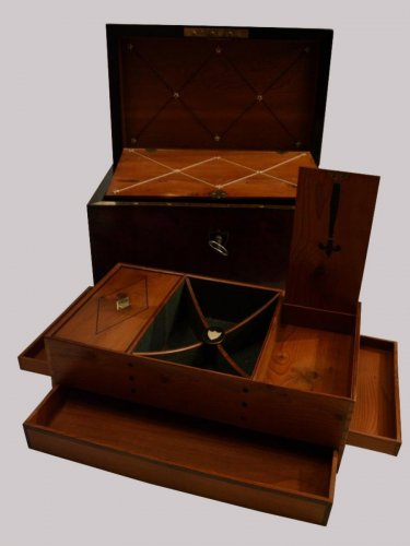 18th century - Mahogany Letters and Games Case circa 1800