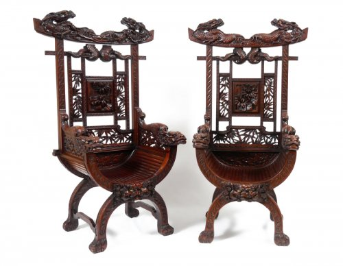 Pair of Armchairs, Viet Nam late 19th century