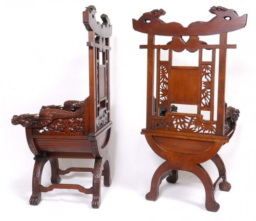 Pair of Armchairs, Japan - Asian Art & Antiques Style