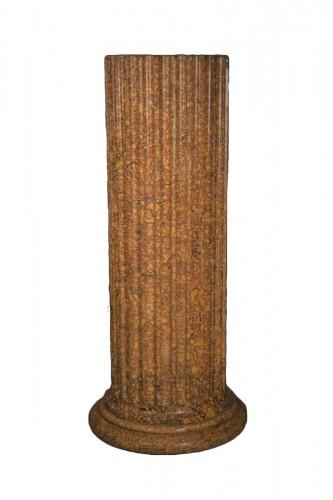 Scagliola flutted column