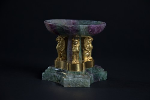Small spath fluor tazza with ormolu monts - Objects of Vertu Style Empire