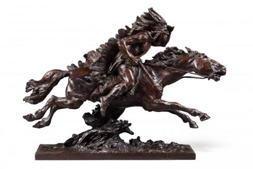 Checa y Sanz Ulpiano (1860-1916) - Indian on his horse