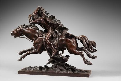 Checa y Sanz Ulpiano (1860-1916) - Indian on his horse - Sculpture Style Art nouveau