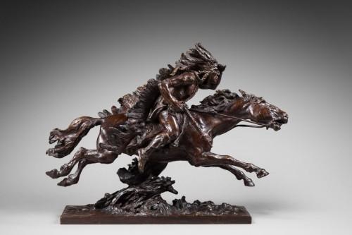 20th century - Checa y Sanz Ulpiano (1860-1916) - Indian on his horse