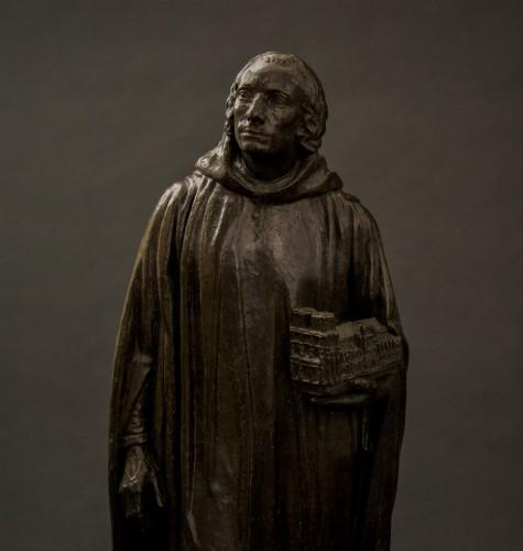 Henri Bouchard (1875-1960) Jehan de Chelles ou Jean de Chelles - Sculpture Style Art Déco