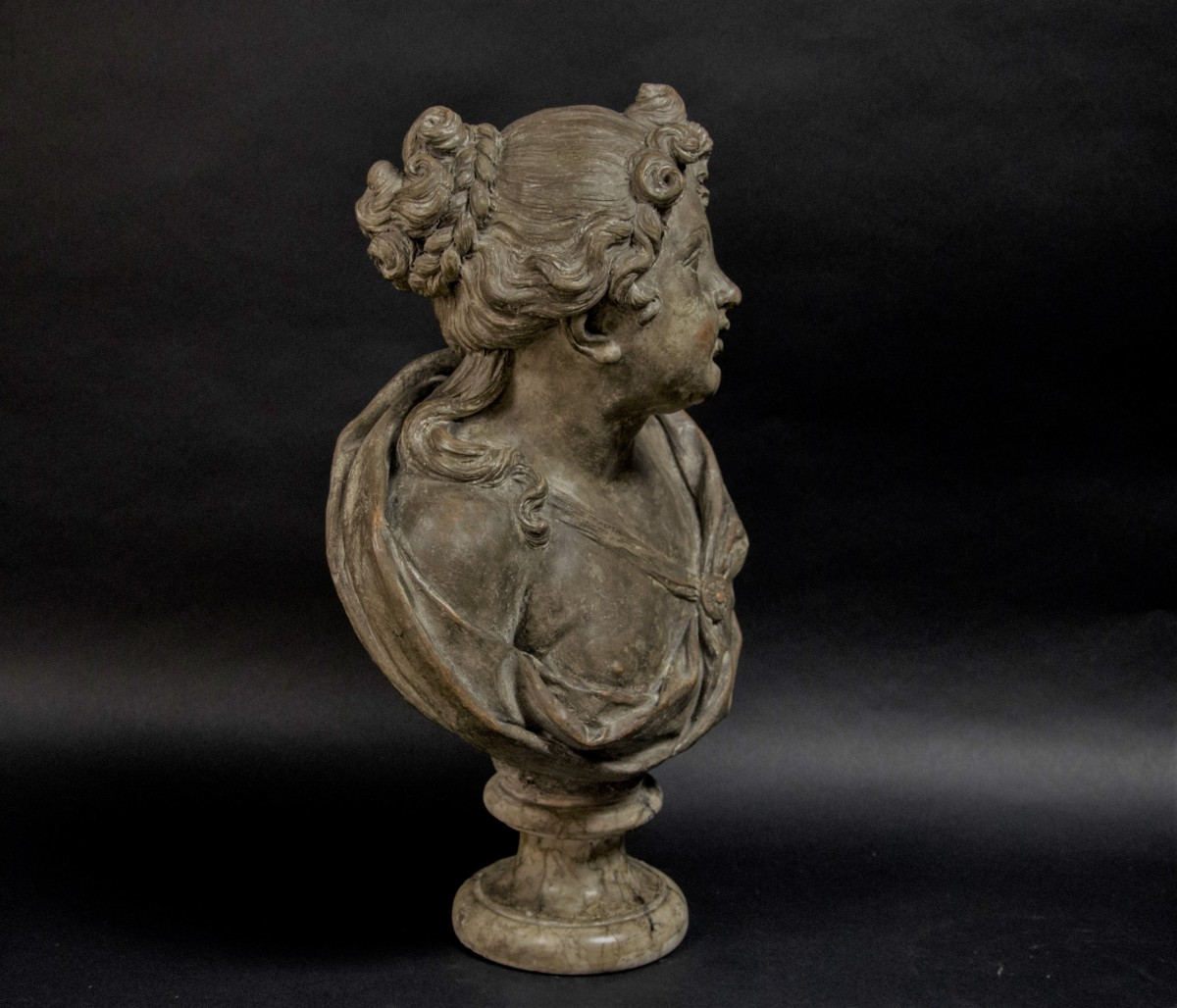 18th Century Terracotta Nymph Bust Ref 65936