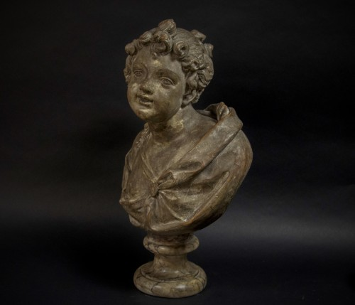18th century Terracotta nymph bust - Sculpture Style Louis XVI