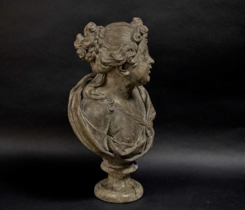 Louis XVI - 18th century Terracotta nymph bust